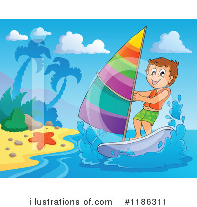 Windsurfing Clipart #1186311 by visekart