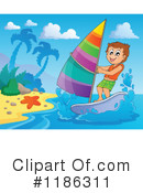 Royalty-Free (RF) Windsurfing Clipart Illustration #1186311