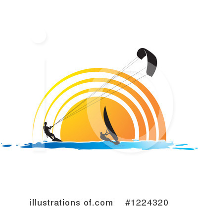 Wind Surfing Clipart #1224320 by Lal Perera