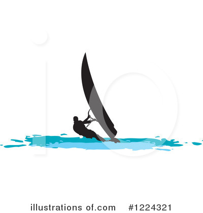 Wind Surfing Clipart #1224321 by Lal Perera