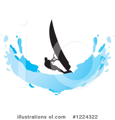 Royalty-Free (RF) Windsurfing Clipart Illustration by Lal Perera - Stock Sample #1224322
