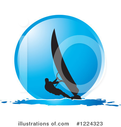 Wind Surfing Clipart #1224323 by Lal Perera