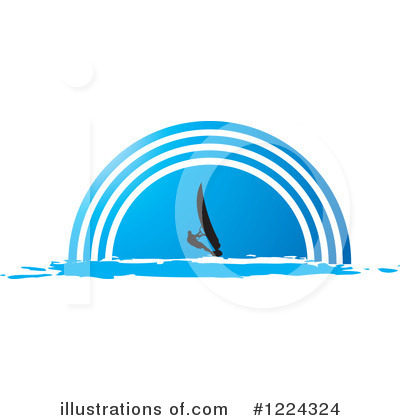 Windsurfing Clipart #1224324 by Lal Perera