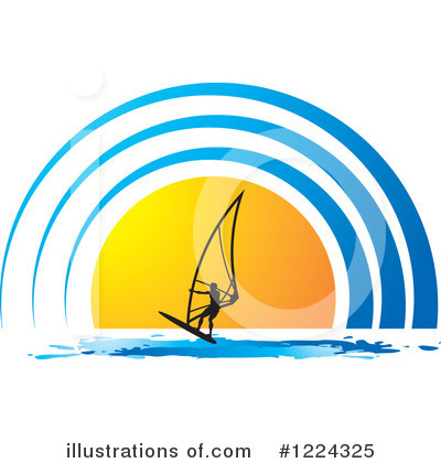 Windsurfing Clipart #1224325 by Lal Perera