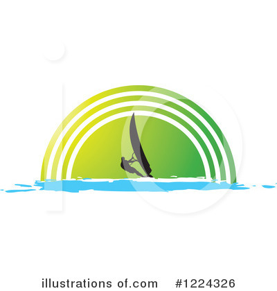 Royalty-Free (RF) Windsurfing Clipart Illustration by Lal Perera - Stock Sample #1224326