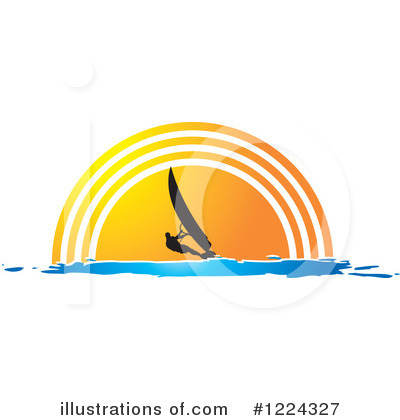 Windsurfing Clipart #1224327 by Lal Perera