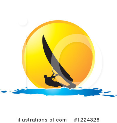 Wind Surfing Clipart #1224328 by Lal Perera