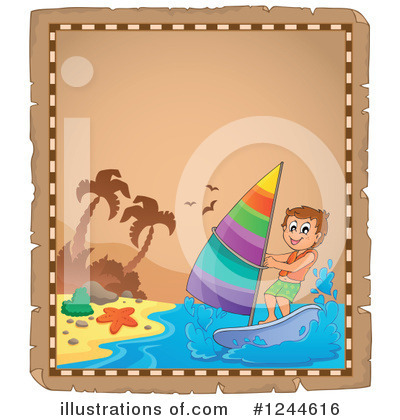 Wind Surfing Clipart #1244616 by visekart