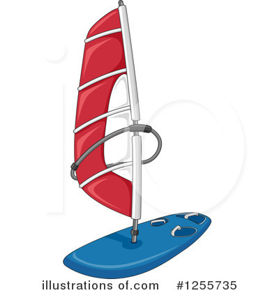 Windsurfing Clipart #1255735 by BNP Design Studio