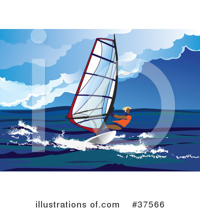Wind Surfing Clipart #37566 by Eugene