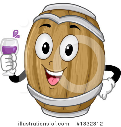 Royalty-Free (RF) Wine Barrel Clipart Illustration by BNP Design Studio - Stock Sample #1332312