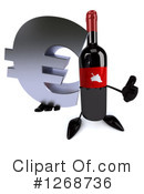 Wine Bottle Character Clipart #1268736 by Julos