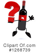 Wine Bottle Character Clipart #1268739 by Julos