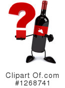Wine Bottle Character Clipart #1268741 by Julos
