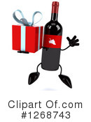 Wine Bottle Character Clipart #1268743 by Julos