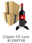 Wine Bottle Character Clipart #1268748 by Julos