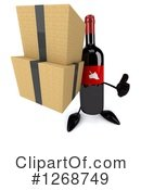 Wine Bottle Character Clipart #1268749 by Julos