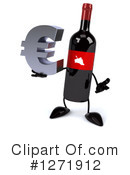 Wine Bottle Character Clipart #1271912 by Julos