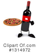Wine Bottle Character Clipart #1314972 by Julos