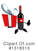 Wine Bottle Character Clipart #1318313 by Julos