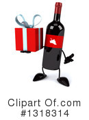 Wine Bottle Character Clipart #1318314 by Julos