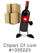 Wine Bottle Character Clipart #1335220 by Julos
