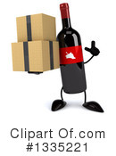 Wine Bottle Character Clipart #1335221 by Julos