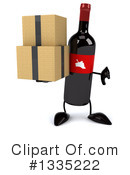 Wine Bottle Character Clipart #1335222 by Julos
