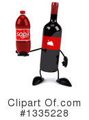 Wine Bottle Character Clipart #1335228 by Julos