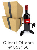 Wine Bottle Character Clipart #1359150 by Julos