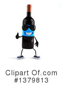 Wine Bottle Character Clipart #1379813 by Julos
