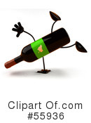 Wine Bottle Character Clipart #55936 by Julos
