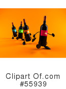 Wine Bottle Character Clipart #55939 by Julos