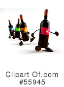 Wine Bottle Character Clipart #55945 by Julos