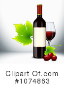 Royalty-Free (RF) Wine Clipart Illustration #1074863