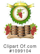 Royalty-Free (RF) Wine Clipart Illustration #1099104