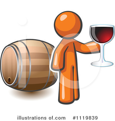 Royalty-Free (RF) Wine Clipart Illustration by Leo Blanchette - Stock Sample #1119839
