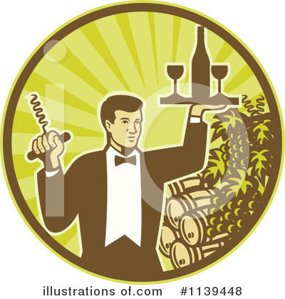 Waiter Clipart #1139448 by patrimonio
