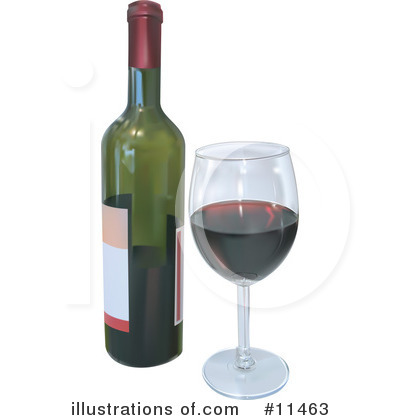 Royalty-Free (RF) Wine Clipart Illustration by Geo Images - Stock Sample #11463