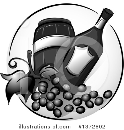 Wine Clipart #1372802 by BNP Design Studio