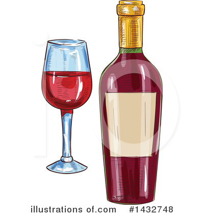 Wine Clipart #1432748 by Vector Tradition SM