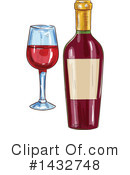 Royalty-Free (RF) Wine Clipart Illustration #1432748