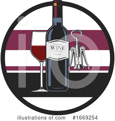 Wine Clipart #1669254 by Vector Tradition SM