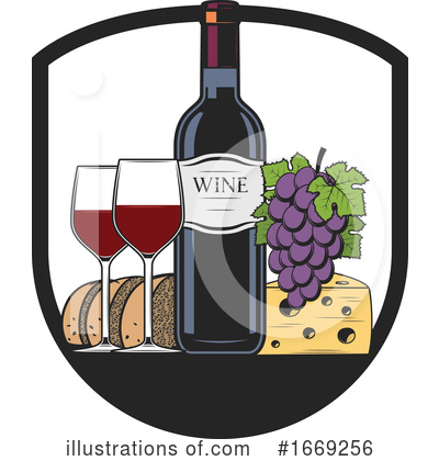 Wine Clipart #1669256 by Vector Tradition SM