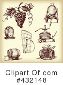 Wine Clipart #432148 by Eugene