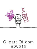 Royalty-Free (RF) Wine Clipart Illustration #68619