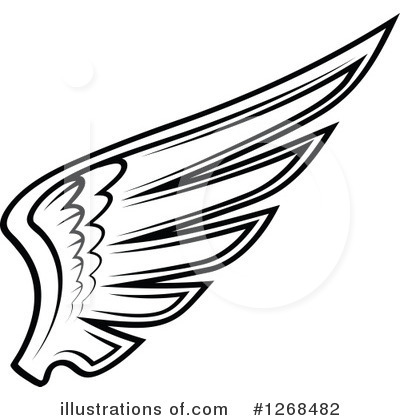 wing clipart 1268482 illustration by vector tradition sm rh illustrationsof com wings clip art public wing clip art free