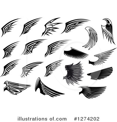 Wing Logo Clipart #1274202 by Vector Tradition SM