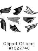 Wing Clipart #1327740 by Vector Tradition SM