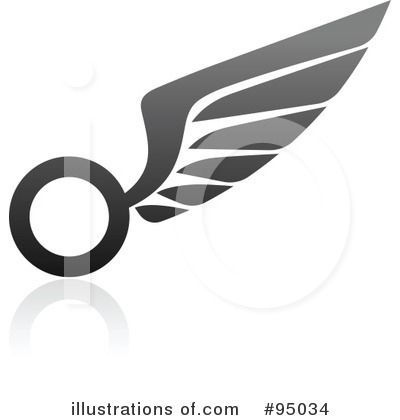 Wing Logo Clipart #95034 by elena